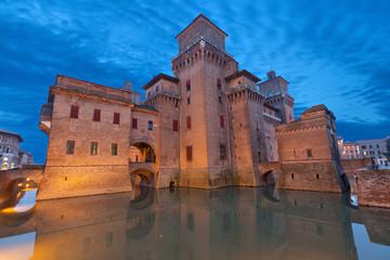 Castello Estense in the evening, Ferrara