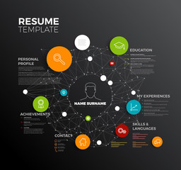 Vector original minimalist cv / resume template