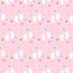 baby footprints girl background