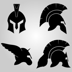 Spartans Helmets Set