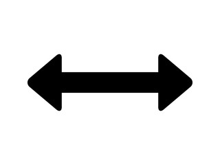 Move left and right or back and forth arrow flat icon for apps and websites