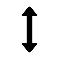 Move up and down directional arrow flat icon for apps and websites