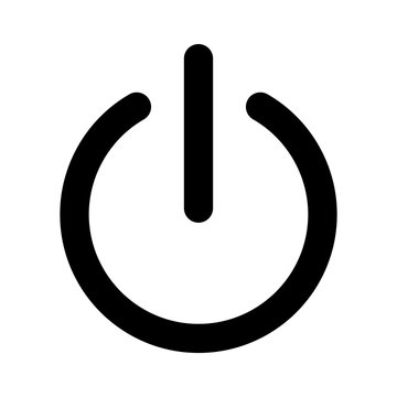 Power on or turn power off flat icon for apps and websites