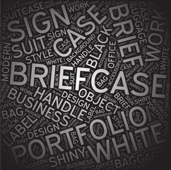 Briefcase,Word cloud art background