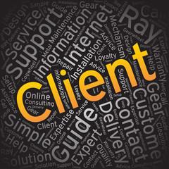 client,Word cloud art background