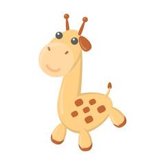 Giraffe cartoon icon. Illustration for web and mobile design.