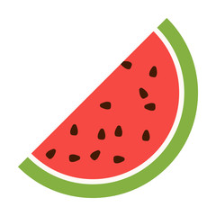 Fototapete - Watermelon flat icon. Illustration for web and mobile design.