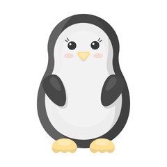 Penguin cartoon icon. Illustration for web and mobile design.