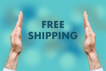 "Businessmen from both hands "" FREE SHIPPING "" writes"