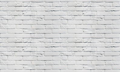 White brick wall texture. Seamless background