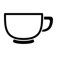 tea coffee cup hot drinks simple black icon