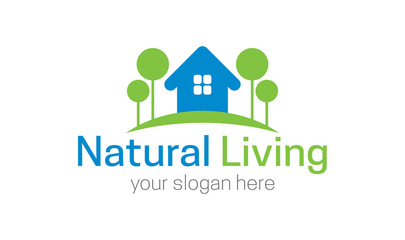 Natural living logo template