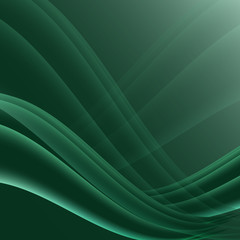 Green and black waves modern futuristic abstract background