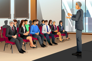 Businesspeople in Seminar