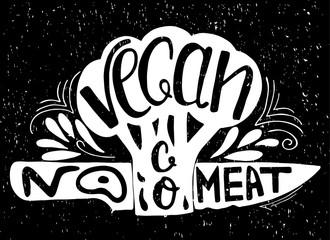 Typographic print. Go Vegan