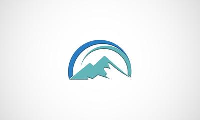 mountain, vector, logo, icon, hill, peak, top, snow, rock, abstract