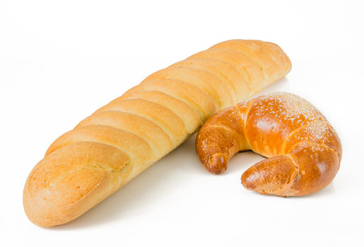 sweet baguette with croissant