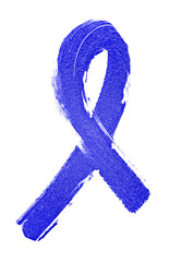 Abstract blue ribbon on a white background