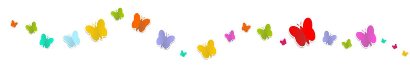 Schmetterlinge Welle Regenbogen Bunt