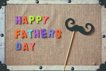 fathers day composition with colorful wooden letters