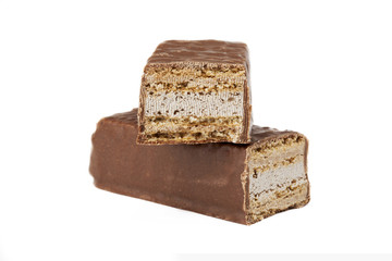 two slices of chocolate bars