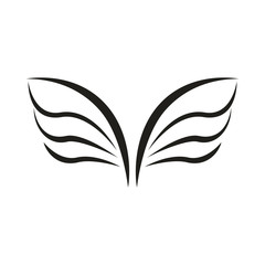 A pair of bird wings icon, simple style