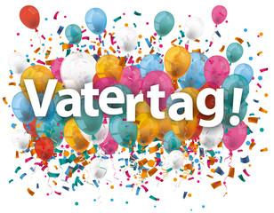 Vatertag Balloons Confetti
