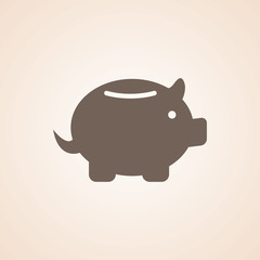 Icon Of Piggy Bank,Save Money.