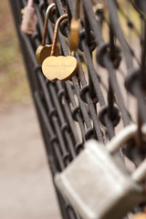 lock in the form of hearts with names. Nastya and Sergey