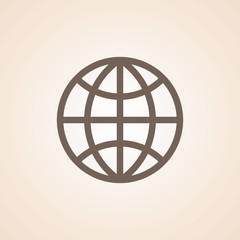 Icon Of Globe.