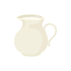 Jug of milk icon, cartoon style