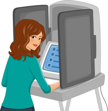 Girl Voting Machine