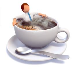3D Männchen macht Kaffeepause
