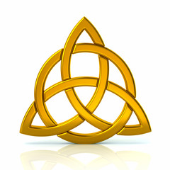 Golden celtic trinity knot