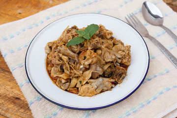 Stir Fried Chicken with Pickled Bamboo shoots