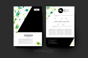 DNA molecule vector brochure template. Flyer Layout