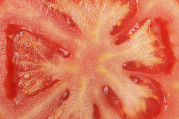 Texture macro sliced tomatoes