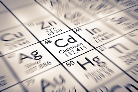 Focus on Cadmium Chemical Element from the Mendeleev Periodic Table