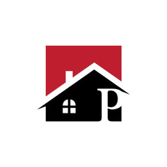 square innitial real estate logo p