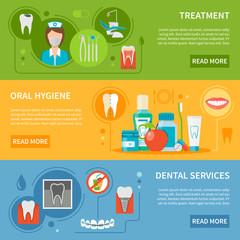 Dental Care Banners Set