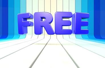 Free, %, 3D Typography