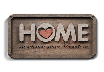 Home is where your heart is Wall mural