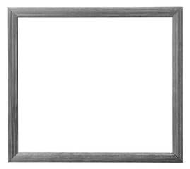 old white wood frame of photo on isolated white with clipping pa