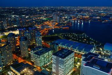 Minato Mirai area in Yokohama, Japan