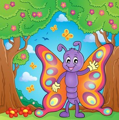 Cheerful butterfly theme image 4