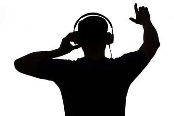 Silhouette eines DJs