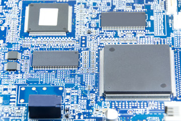 Printed circuit board with electronics components