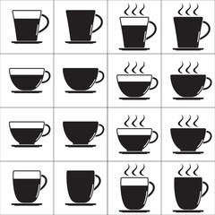 Coffee cup icon, line icon vector