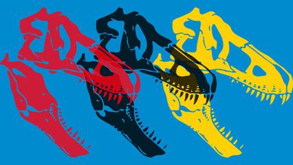 Crâne fossilisé d'un tyrannosaure.