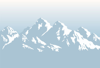snowcapped mountains - background